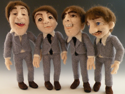 The Beatles - Needle Felted Wool Art Dolls - Sculptural Needle Felting by Kay Petal