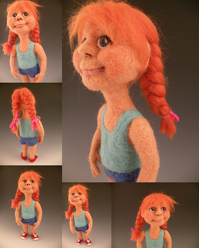 Felt Alive Needle Felted Wool Art Doll - Sculptural Needle Felting by Kay