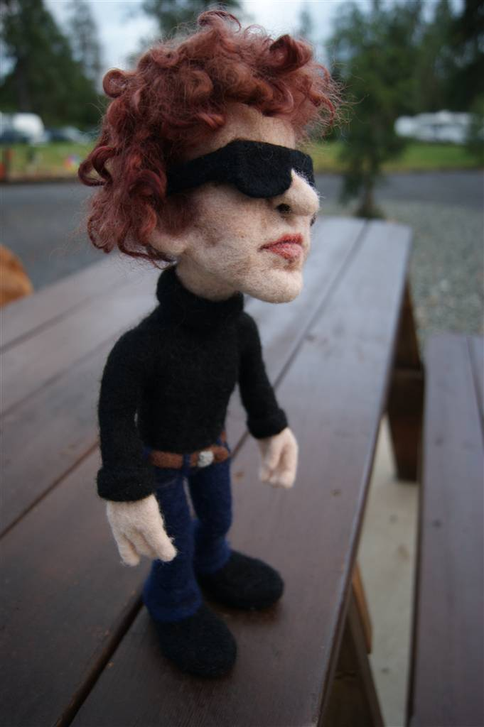 Needle Felted Bob Dylan Doll - by Kay Petal - Felt Alive Wool Sculptures