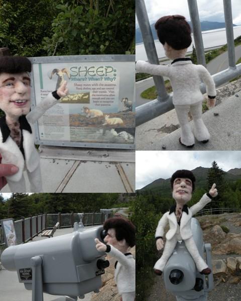 Needle Felted Wool John Travolta Art Doll - Sculptural Needle Felting by Kay Petal