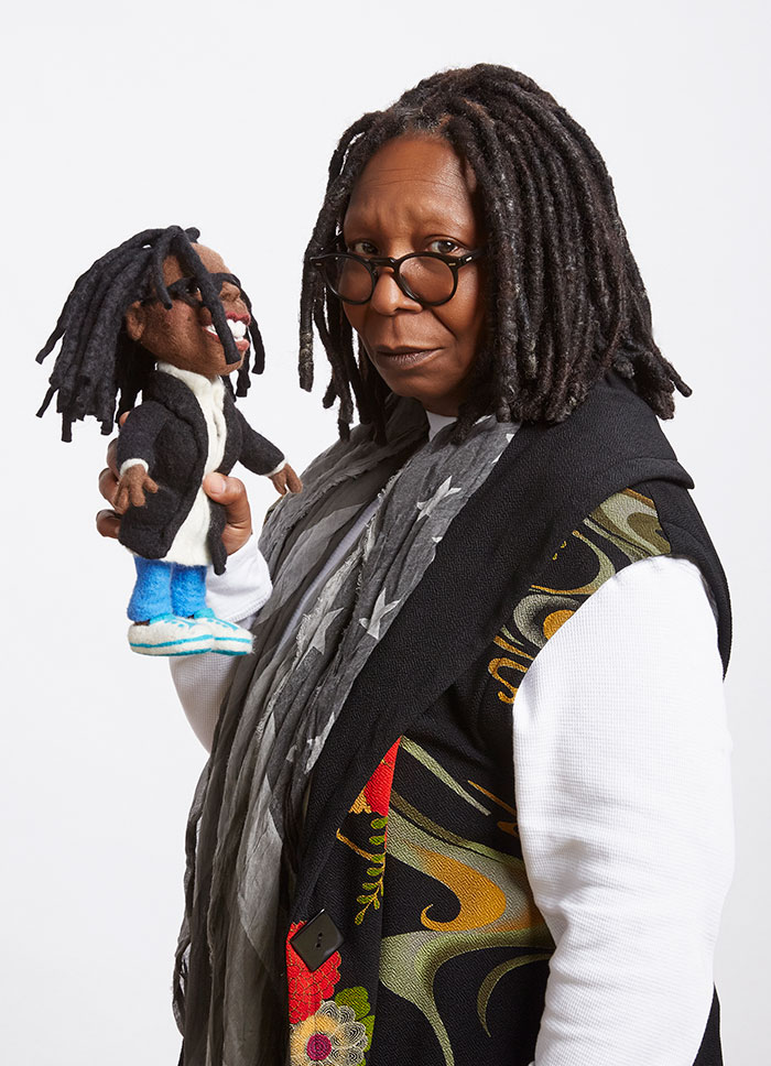 needle felted Felt Alive Whoopi doll by Kay Petal
