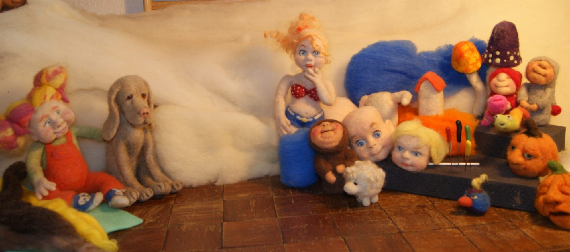 Felt Alive Wool Sculptures